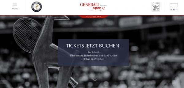 Generali Open Tennis Atp World Tour Kitzbühel Austria